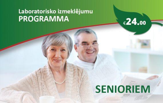 """Laboratorisko izmeklējumu programma """"Senioriem"""""""